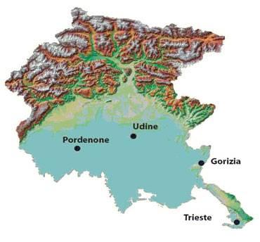 Cartina Fisica Del Friuli Venezia Giulia.Friuli Venezia Giulia Piogge Intense Da Primato Europeo Climatologia Il Tempo In Media E Agli Estremi