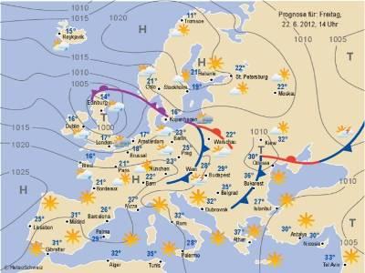 Cartina Meteorologica Dell Italia.Alta Pressione E Bassa Pressione Il Bello Ed Il Cattivo Tempo Fisica Atmosferica I Perche Del Tempo Che Fa