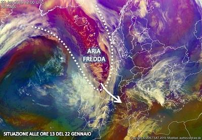 Fig. 1: immagine satellitare del 22 gennaio, ore 13