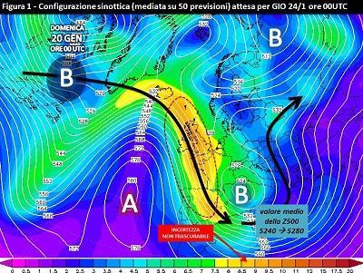 Fig. 1: Situazione media prevista per il 24 gennaio