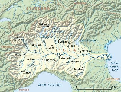 Cartina Geografica Fiume Po.Il Fiume Po Dal Monviso Al Suo Delta Molto Piu Di Un Corso D Acqua Meteo Cronache Ambiente Immagini Dal Cielo