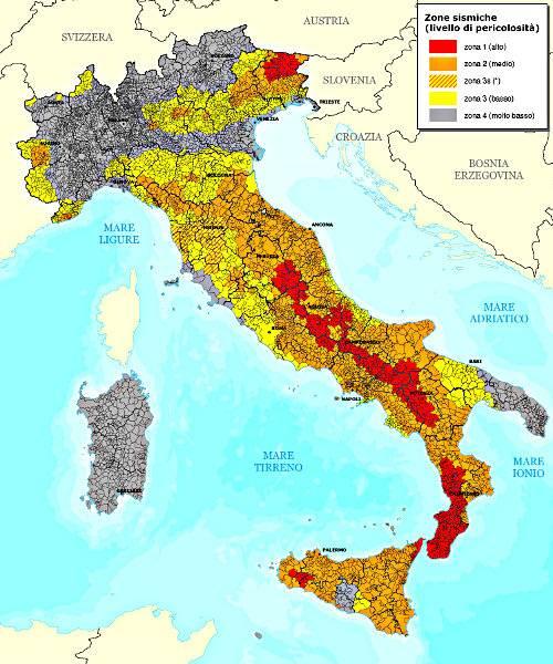 Cartina Italia Con Vulcani.Terremoti Ed Eventi Sismici In Italia Geologia Vulcanologia