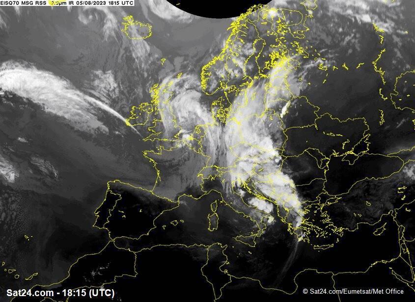 Situazione sull'Italia e l'Europa Satellite Meteosat - Eumetsat