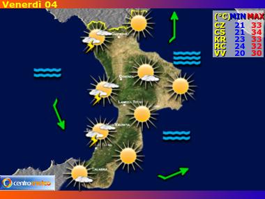 Previsioni Meteo Calabria