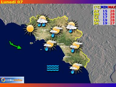 Previsioni Meteo Campania