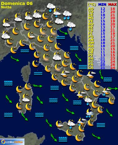 Cartina Meteorologica Dell Italia.Meteo Domani Italia Previsioni Meteo Nazionali