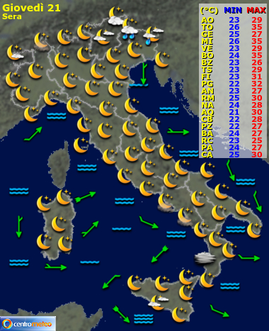 Meteo Italia Cartina.Ra2abega Dagtm