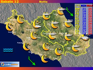 Previsioni del Tempo Lazio, Abruzzo e Molise, mappa 1