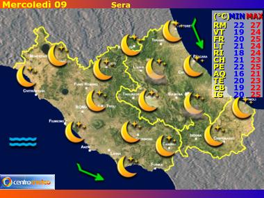 Previsioni del Tempo Lazio, Abruzzo e Molise, mappa 3