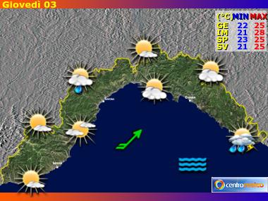 Previsioni Meteo Liguria