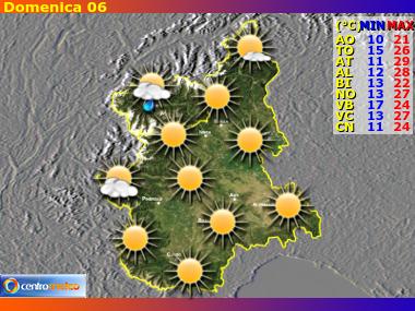 Previsioni Meteo Piemonte e Valle D'Aosta