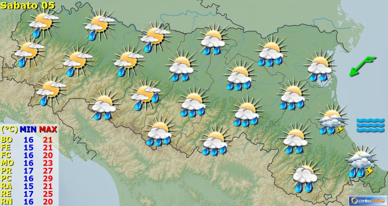 Previsioni Meteo Emilia Romagna