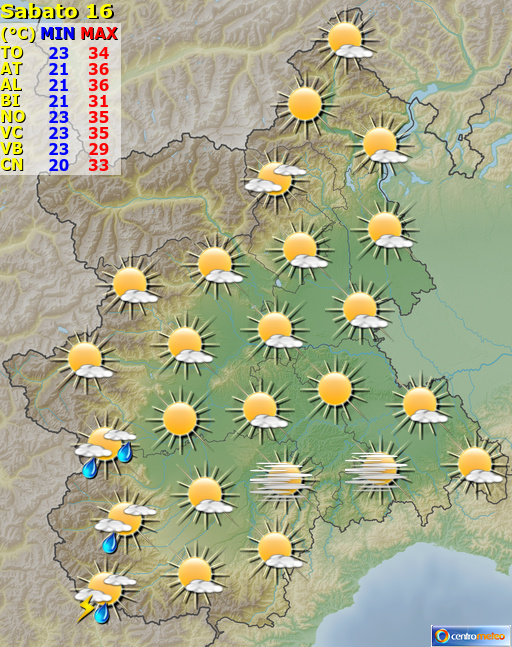 Previsioni Meteo Piemonte