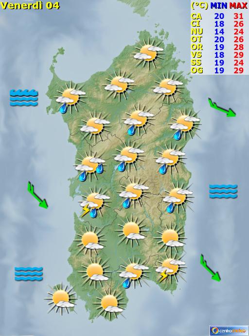 Previsioni Meteo Sardegna