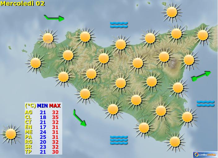 Previsioni Meteo Sicilia