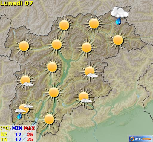 Previsioni Meteo Trentino Alto Adige
