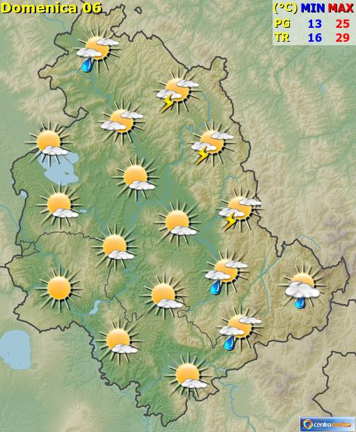 Previsioni Meteo Umbria