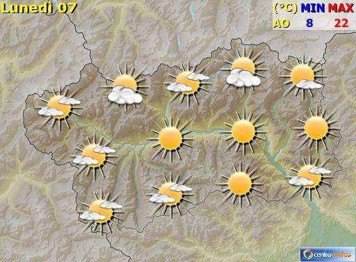 Previsioni Meteo Valle D'Aosta