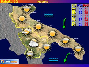 Mappa Puglia E Basilicata.Previsioni Meteo Puglia E Basilicata Riassunto Mattina Pomeriggio Sera Notte Previsioni Meteo Regionali