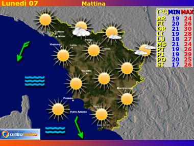 Previsioni del Tempo Toscana, mappa 3