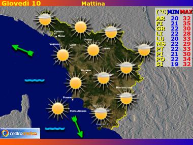 Previsioni del Tempo Toscana, mappa 2