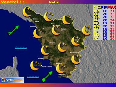Previsioni del Tempo Toscana, mappa 4