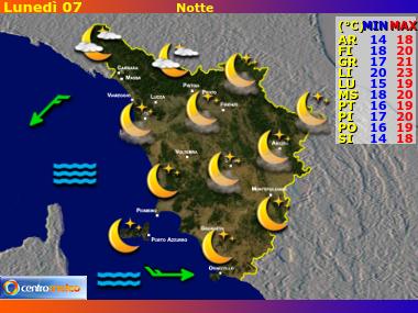 Previsioni del Tempo Toscana, mappa 1