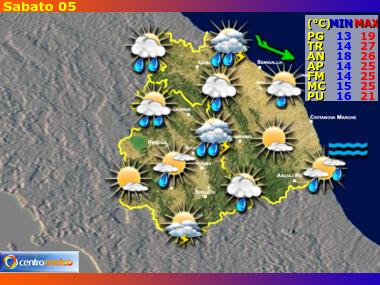 Previsioni Meteo Umbria e Marche