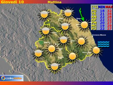 Previsioni del Tempo Marche e Umbria, mappa 2