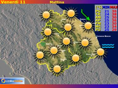 Previsioni del Tempo Marche e Umbria, mappa 3